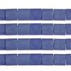 Miyuki Tila Beads 5X5mm 2 Hole Cobalt Opaque Matte
